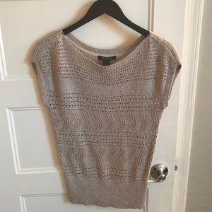 WHBM gold/beige lightweight sleeveless sweater